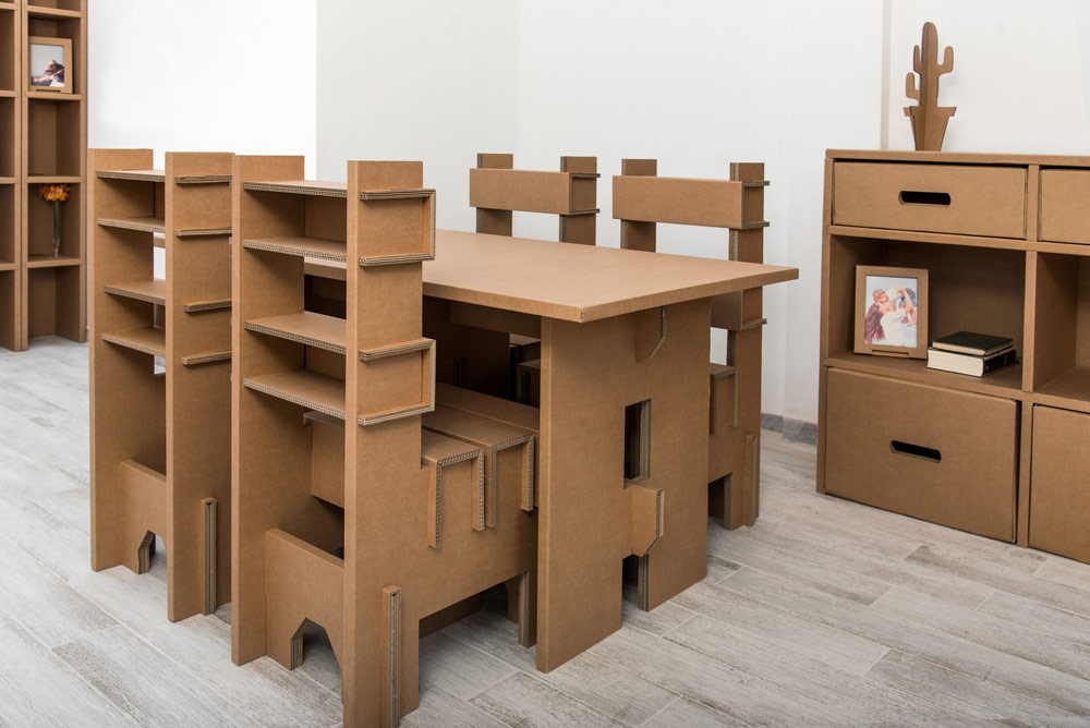 Muebles de cart n para diferentes usos timbrados san jose illueca zaragoza - Muebles de carton ...